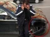Picture: Пиян полицай направи верижна катастрофа и се обслужи сам