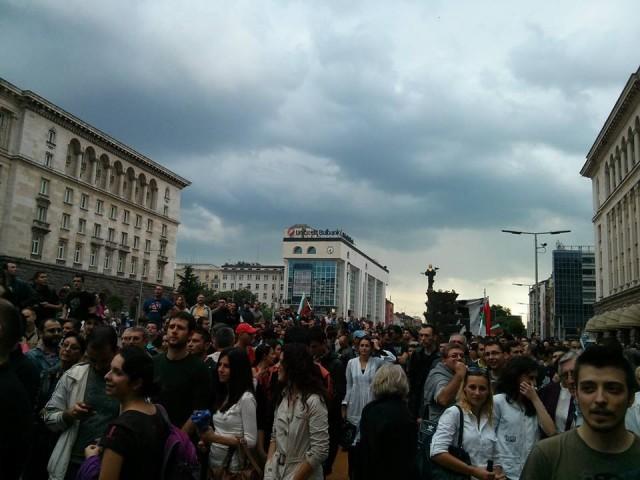 Протест срещу Пеевски