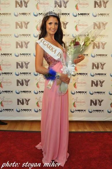 """Невена Чалова """"Мис Българка – 2013″ (избрана през месец май в Ню Йорк)"""