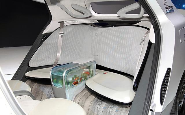 китайски автомобил с аквариум