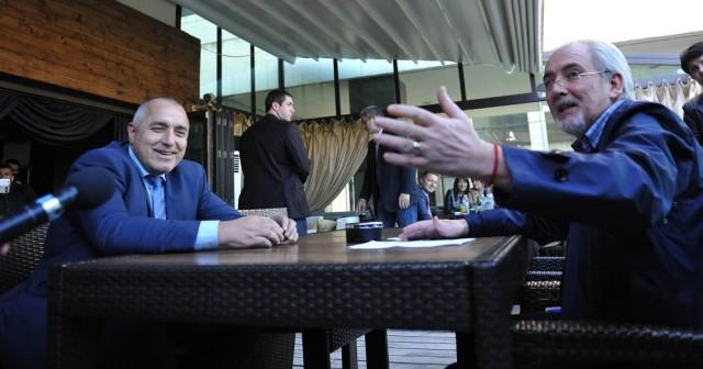 Бойко Борисов и Лютви Местан пият кафе