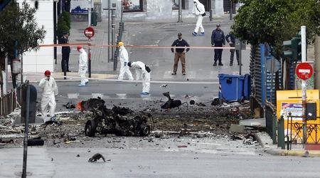 Експлозия пред централната банка в Атина