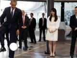Обама рита мач с японски робот