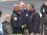 Picture: САЩ: Обама лично подкрепи пострадалите от калния потоп в Осо