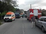 Picture: Пътнически автобус се обърна край Сливо поле, има жертви
