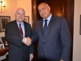 """Picture: Бойко Борисов обсъди с Джон Маккейн кризата в Украйна и строителството на """"Южен поток"""""""
