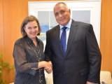 Picture: Бойко Борисов за срещна с помощник - държавния секретар на САЩ Виктория Нюланд