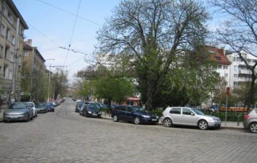 зелена зона в софийския квартал Лозенец