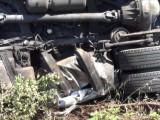 камион с 15 служители на МВР се преобърна в дере