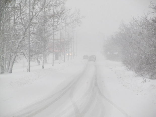 Пътят до АЕЦ Козлодуй е затворен заради преспи