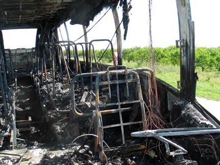 трагедията с изпепеления автобус