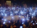 Picture: Хиляди на протест в Будапеща срещу посещението на Путин в Унгария