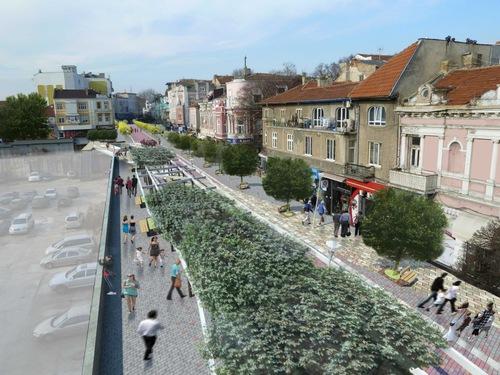 София с уникална пешеходна зона до лятото