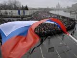 Хиляди руснаци се включиха в траурния марш в Москва, има арестувани