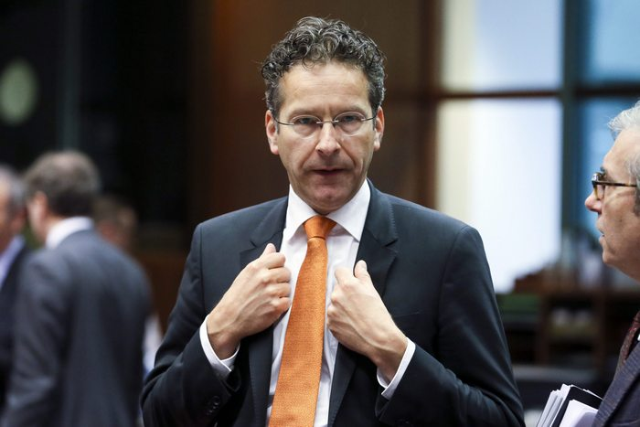 epa05327861 President of Eurogroup, Dutch Finance Minister Jeroen Dijsselbloem during a Finance Ministers Meeting in Brussels, Belgium, 25 May 2016.  EPA/OLIVIER HOSLET
