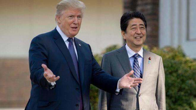 Trump Abe AFP