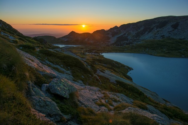 Sunrise Rila lakes