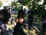 Мацки към полицията пред парламента