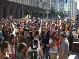 Picture: Протестиращите измислиха оригинален метод да изритат Орешарски!