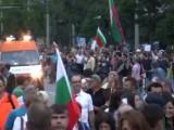 Picture: Протести, полиция, пожарни и линейки в центъра на София