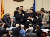 Picture: Масов бой в македонския парламент