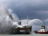 Ферибот горя в Адриатическо море